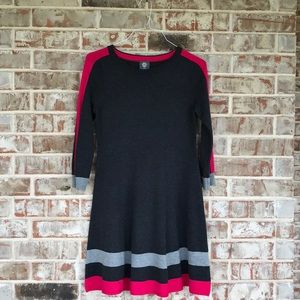 Vince Camuto Thick Warm Sweater Dress Charcoal S